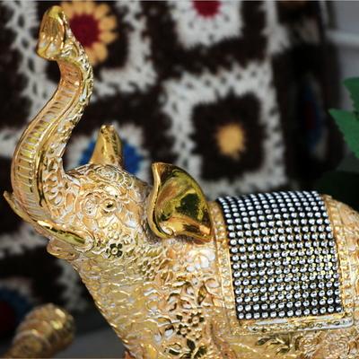 애플리제 개업선물 인테리어소품 꽃무늬금색코끼리 중