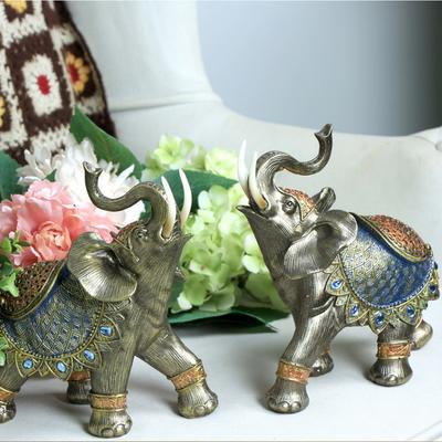 애플리제 인테리어소품 선물 블루 인도코끼리 장식 2p