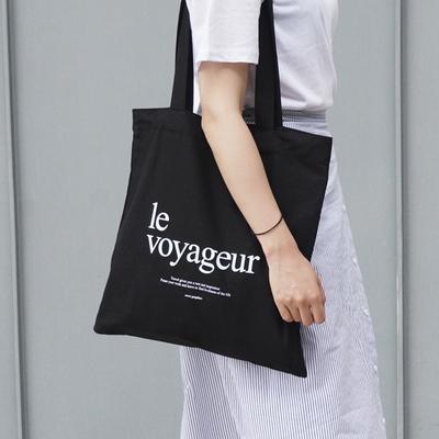 le voyageur_eco bag - BLACK