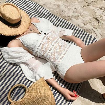 홀리 여성 레이스 망사 모노키니 수영복 (2color)