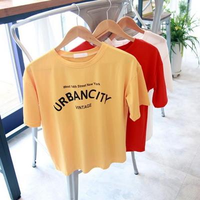 홀리 여성 어반시티 레터링 반팔티셔츠 (3color)