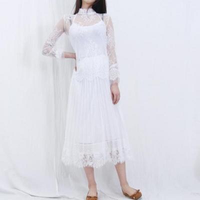 홀리 여성 망사 시스루 레이어드 이너 (3color)