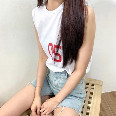 홀리 여성 파이브 나시 롱 티셔츠