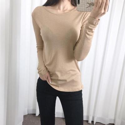 홀리 여성 내츄럴 긴팔 티셔츠
