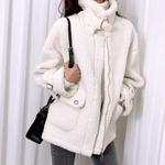 홀리 여성 양털 무스탕 자켓