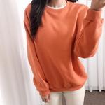 홀리 여성 오버핏 무지 심플 기모 맨투맨