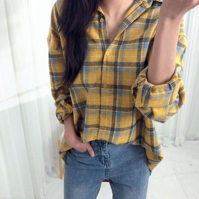 홀리 여성 캔디 체크 셔츠 남방(남여공용/커플룩추천)