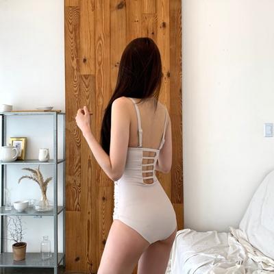 홀리 여성 스킨 셔링 모노키니 수영복