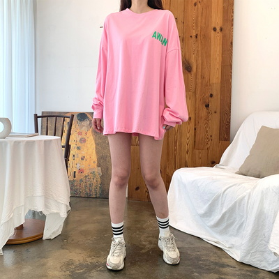 홀리 여성 익스트림 롱 티셔츠