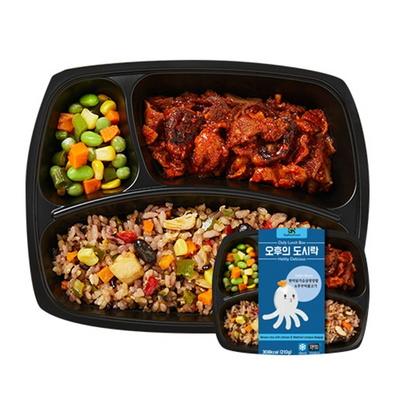 오후의 도시락 일주일 다이어트 식단관리 건강밥 도시락 3종 6팩
