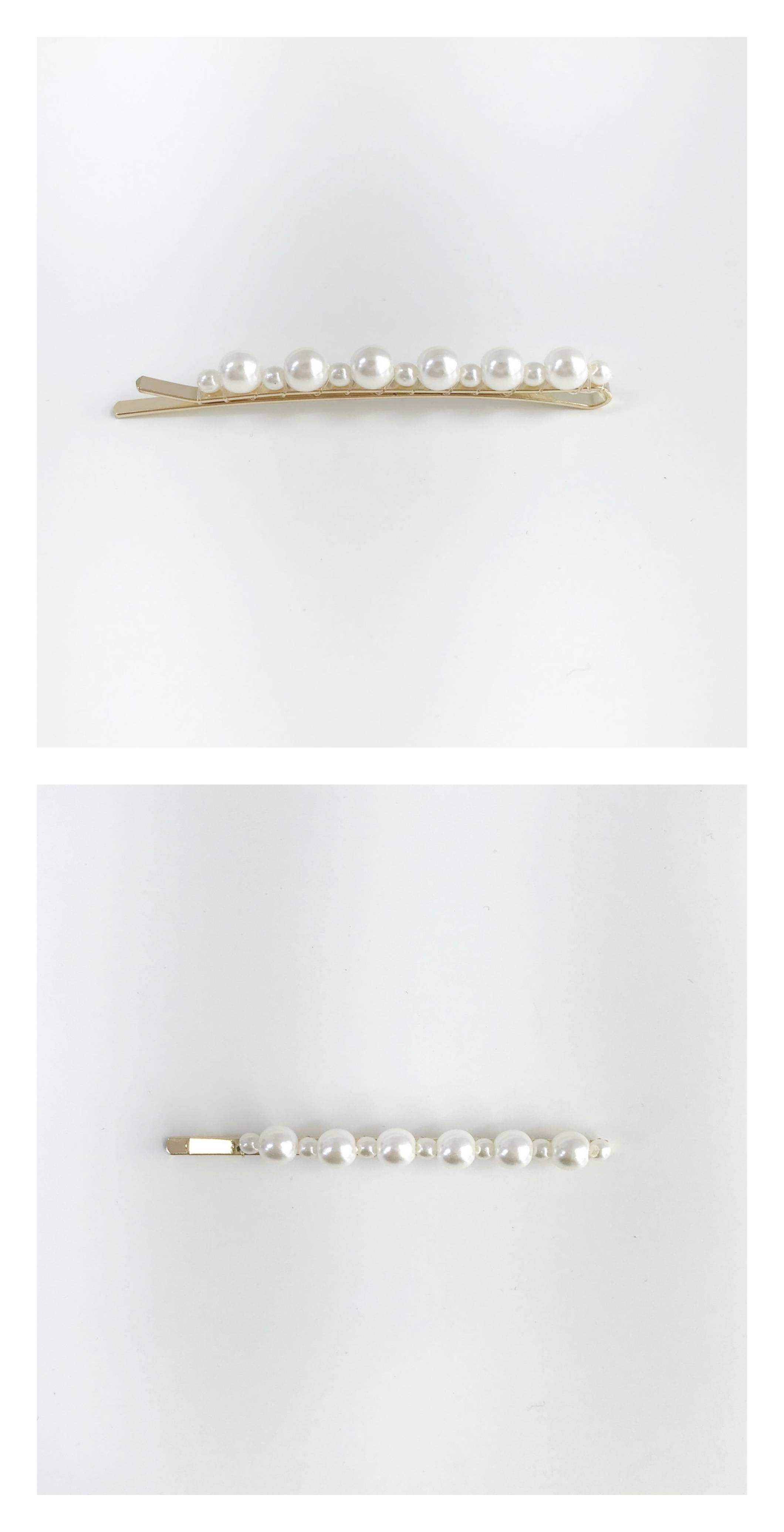 진주 실핀 - 포이스튜디오, 3,000원, 헤어핀/밴드/끈, 헤어핀/끈