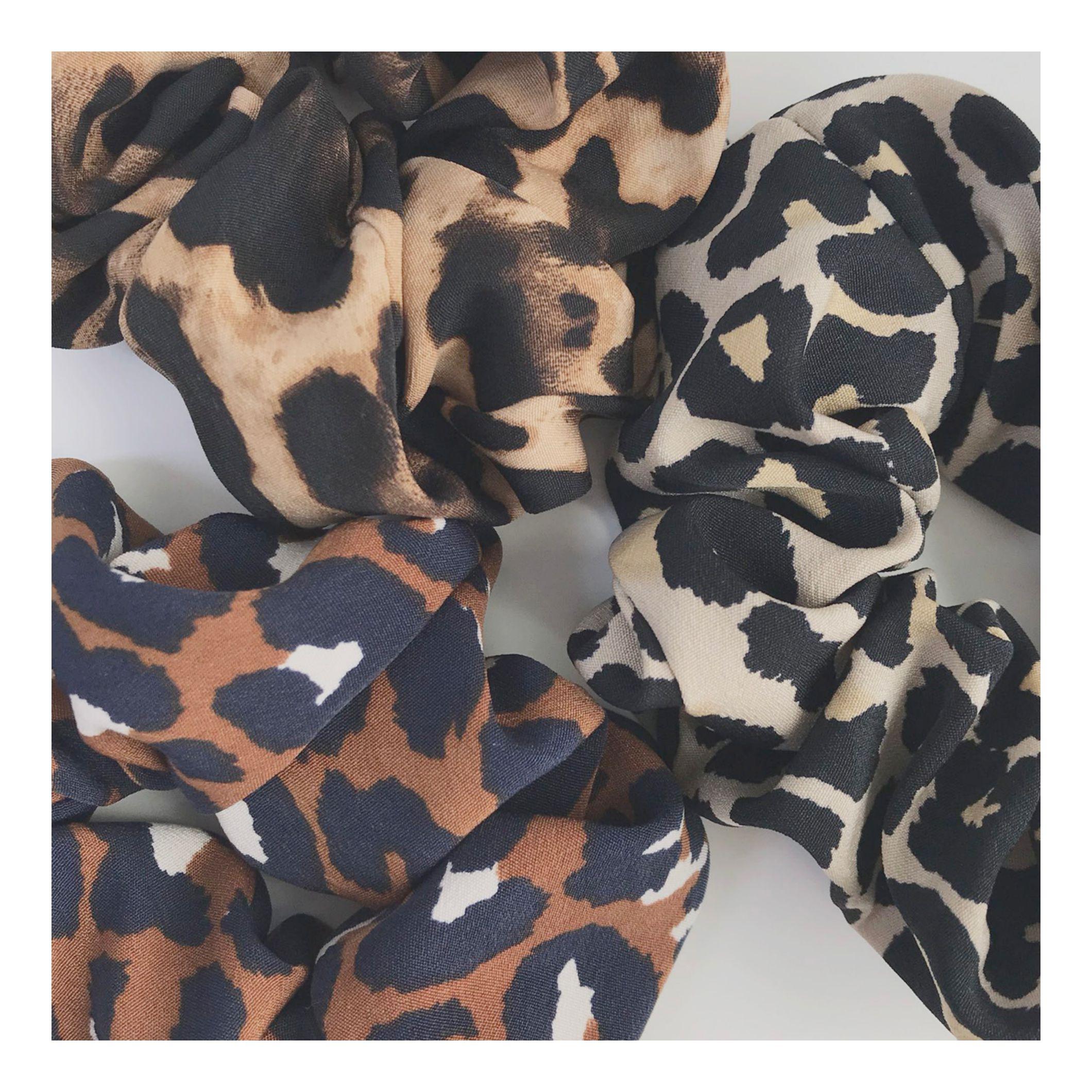 레오파드 슈슈 (3color) - 포이스튜디오, 8,000원, 헤어핀/밴드/끈, 헤어핀/끈