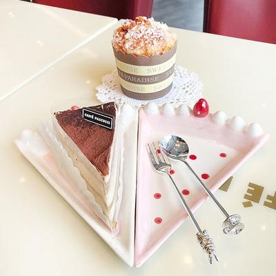 스트로베리 케이크 접시 (2type)