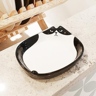 모노 고양이 미니 접시