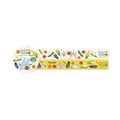 토토로 야채무늬 마스킹 테이프