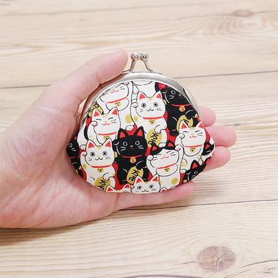 복 가득 고양이 동전지갑 (2color)