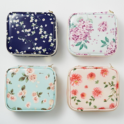 Floral Compact Pouch