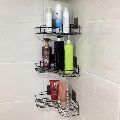 스틸 욕실 화장실 코너선반 무타공 욕실선반 3단
