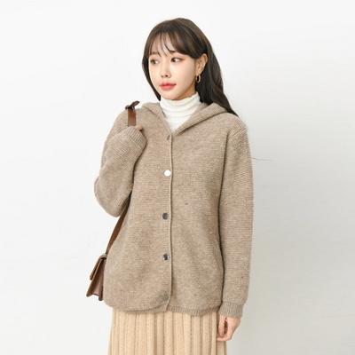 겟잇미 뽀글이 양털 버튼 후드 자켓 (2color)