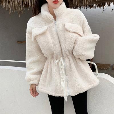 겟잇미 (당일배송) 스트링 양털 뽀글이 덤블 자켓
