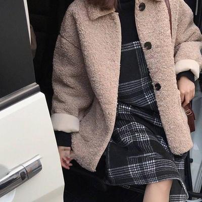 겟잇미 포켓 버튼 기모 뽀글이 양털 자켓