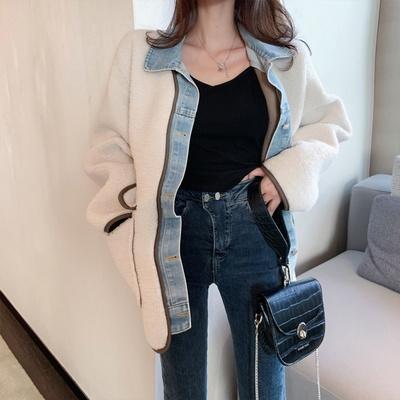 겟잇미 뽀글이 덤블 데님 포켓 자켓