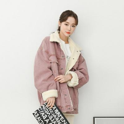 겟잇미 뽀글이 양털 안감 오버핏 데님자켓