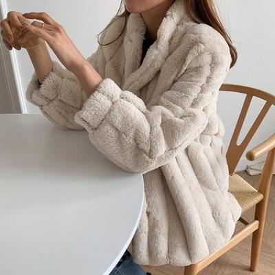 겟잇미 포켓 카라 덤블 퍼누빔 코트