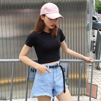 겟잇미 데일리 썸머 무지 크롭 심플 티셔츠