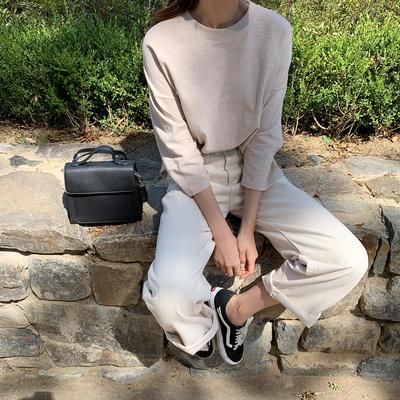 겟잇미 레이어드 7부 긴팔 기본 티셔츠