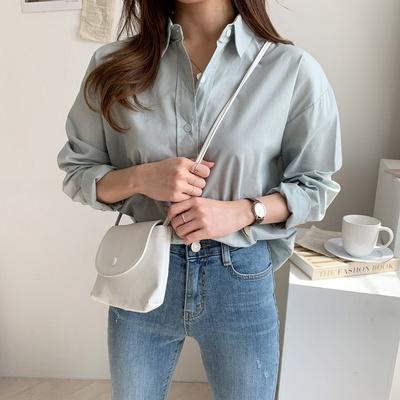 겟잇미 데일리 여성 언발 루즈핏 카라셔츠