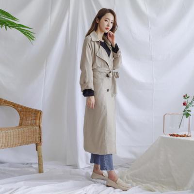 겟잇미 박시핏 가을 더블 여밈 트렌치 코트