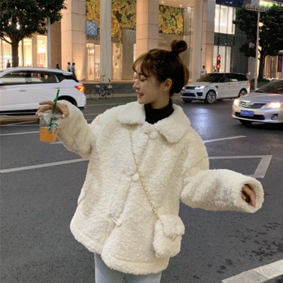 겟잇미 (당일배송) 카라 양털 루즈핏 자켓