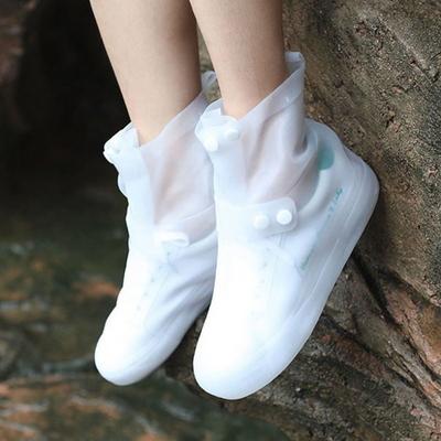 레인 장화 방수 슈즈 신발 보호 투명 커버 버튼형 38