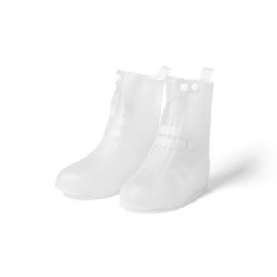 레인 장화 방수 슈즈 신발 보호 투명 커버 버튼형 36