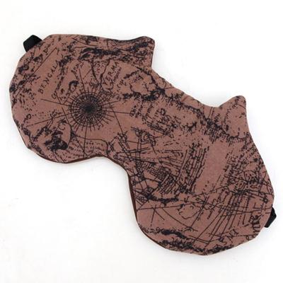 자루캣 수면안대(브라운 맵)