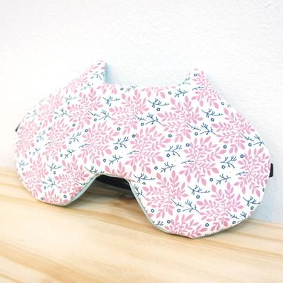 자루캣 수면안대(풀꽃 핑크)