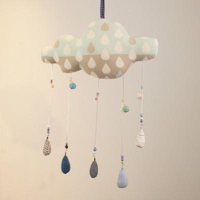 큰 비구름 모빌(빗방울)
