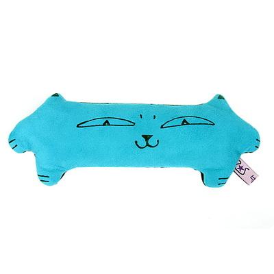 납작 고양이 손목쿠션(블루)