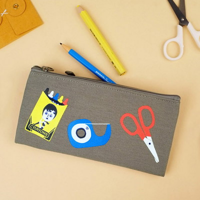 DOUBLE ZIPPER PENCIL CASE 3종