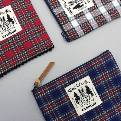 TARTAN CHECK POUCH (small)(large)
