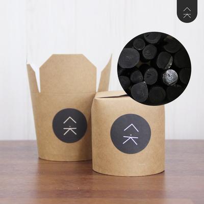 공기정화용 비장탄 숯 숯댕이 컵숯