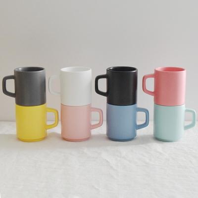 그랑쉘 무광 도자기 머그 330ml (8 color) 카페머그컵