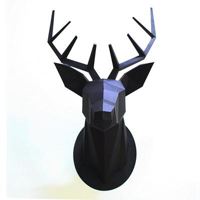 Paper Hunting Trophy-Deer Head(Black)