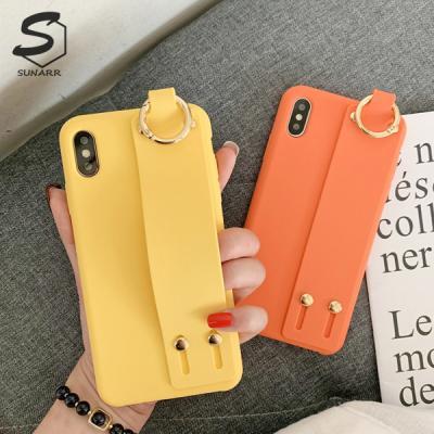 아이폰XR XS맥스 X/XS 8 7 6/6S 플러스 컬러스트랩 실리콘 핸드폰케이스