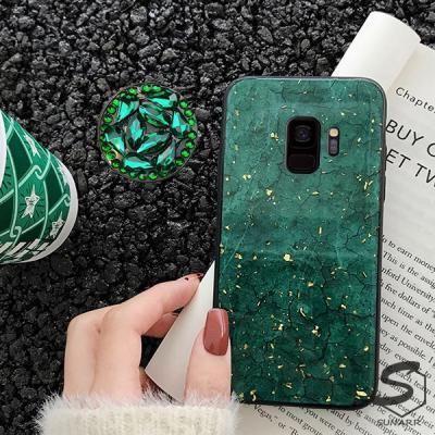 갤럭시A90 5G A908 마블크랙 글리터 그립톡 휴대폰 핸드폰 케이스