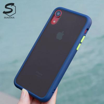 아이폰12 SE2 11 프로 맥스 미니 XR XS X 8 7 6S 플러스 반투명 컬러프레임 하드 핸드폰 케이스