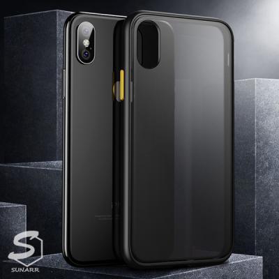 아이폰X XS XR 11 프로맥스 SE2 6S 7 8 플러스 반투명 컬러프레임 하드 휴대폰 핸드폰 케이스