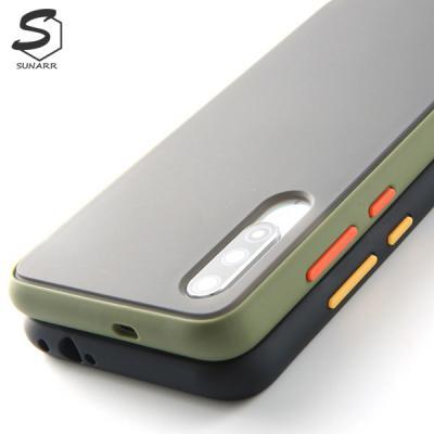 샤오미미노트10 노트10프로 반투명 컬러프레임 하드 휴대폰 핸드폰 케이스
