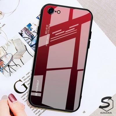아이폰SE2 2020 그라데이션 강화글라스 휴대폰 핸드폰 케이스